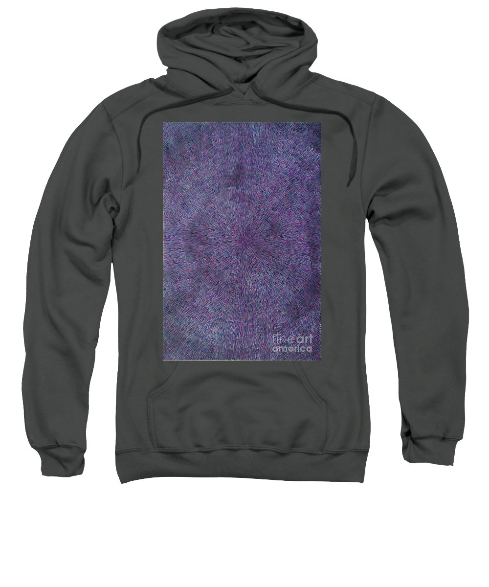 Abstract Sweatshirt featuring the painting Radiation Violet by Dean Triolo