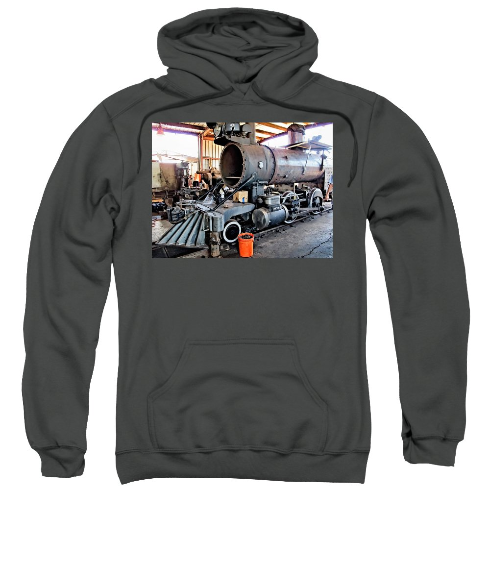 Railyard Sweatshirt featuring the photograph Railyard 13 by Dawn Eshelman