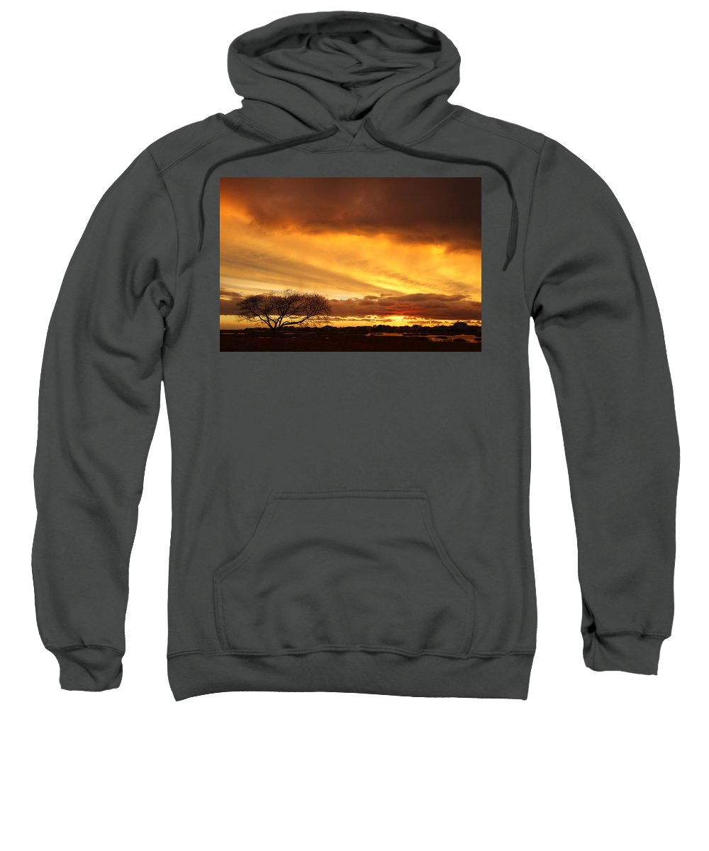 Galveston Sweatshirt featuring the photograph Storm At Dusk 2am-108330 by Andrew McInnes