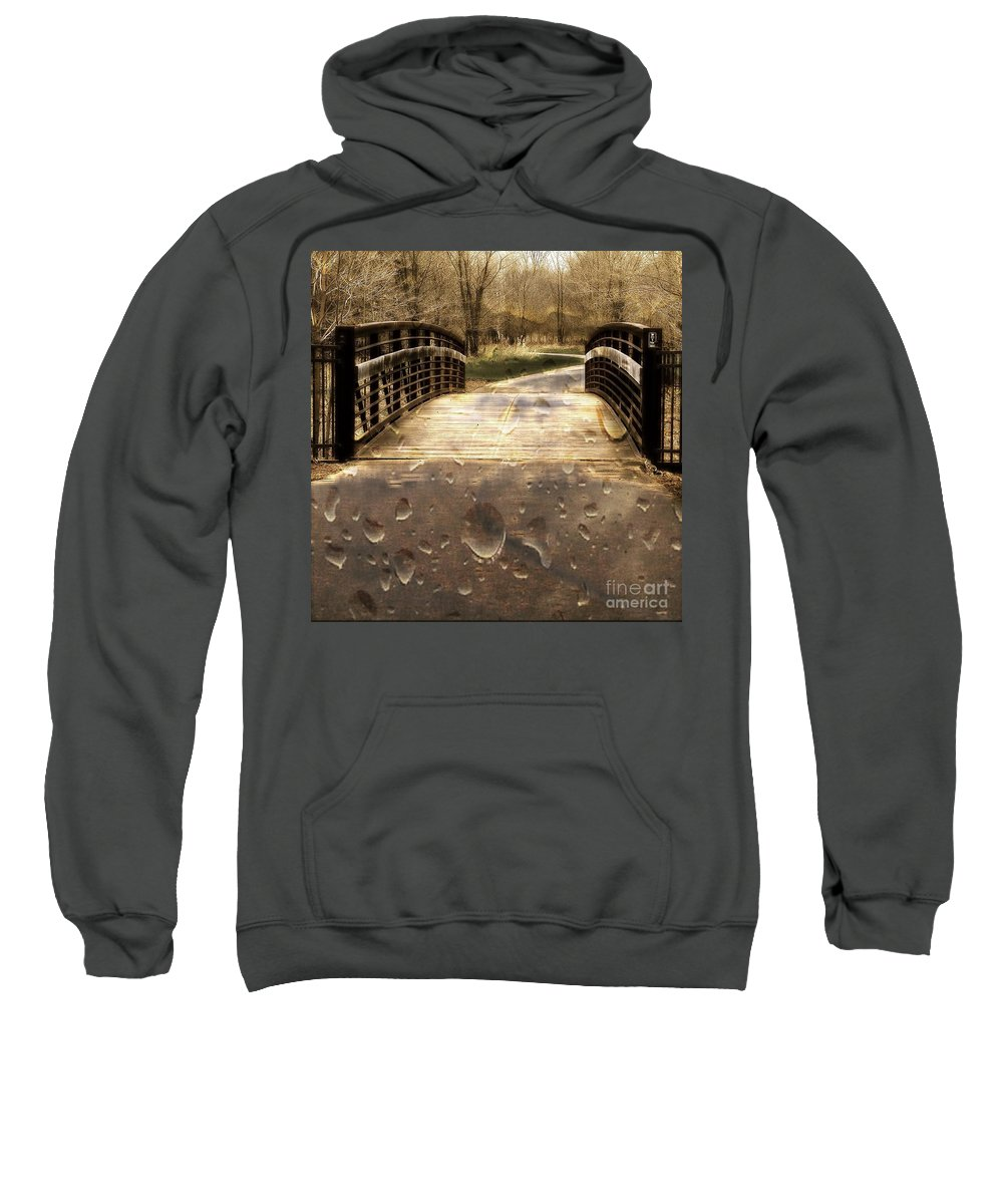 Rain Sweatshirt featuring the photograph Rain Rain Go Away by Nikki Vig