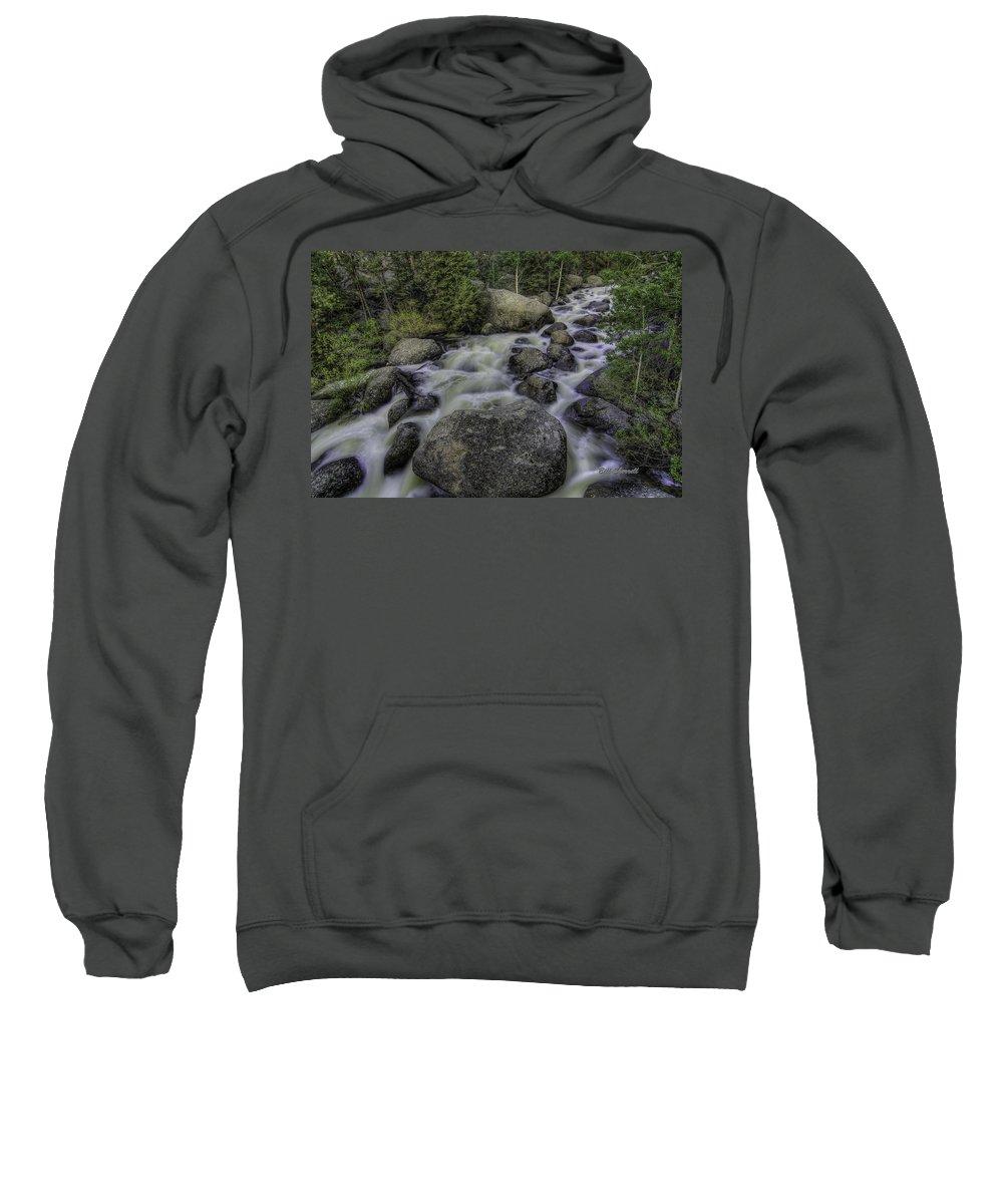 Waterfalls Sweatshirt featuring the photograph Rapid Change by Bill Sherrell