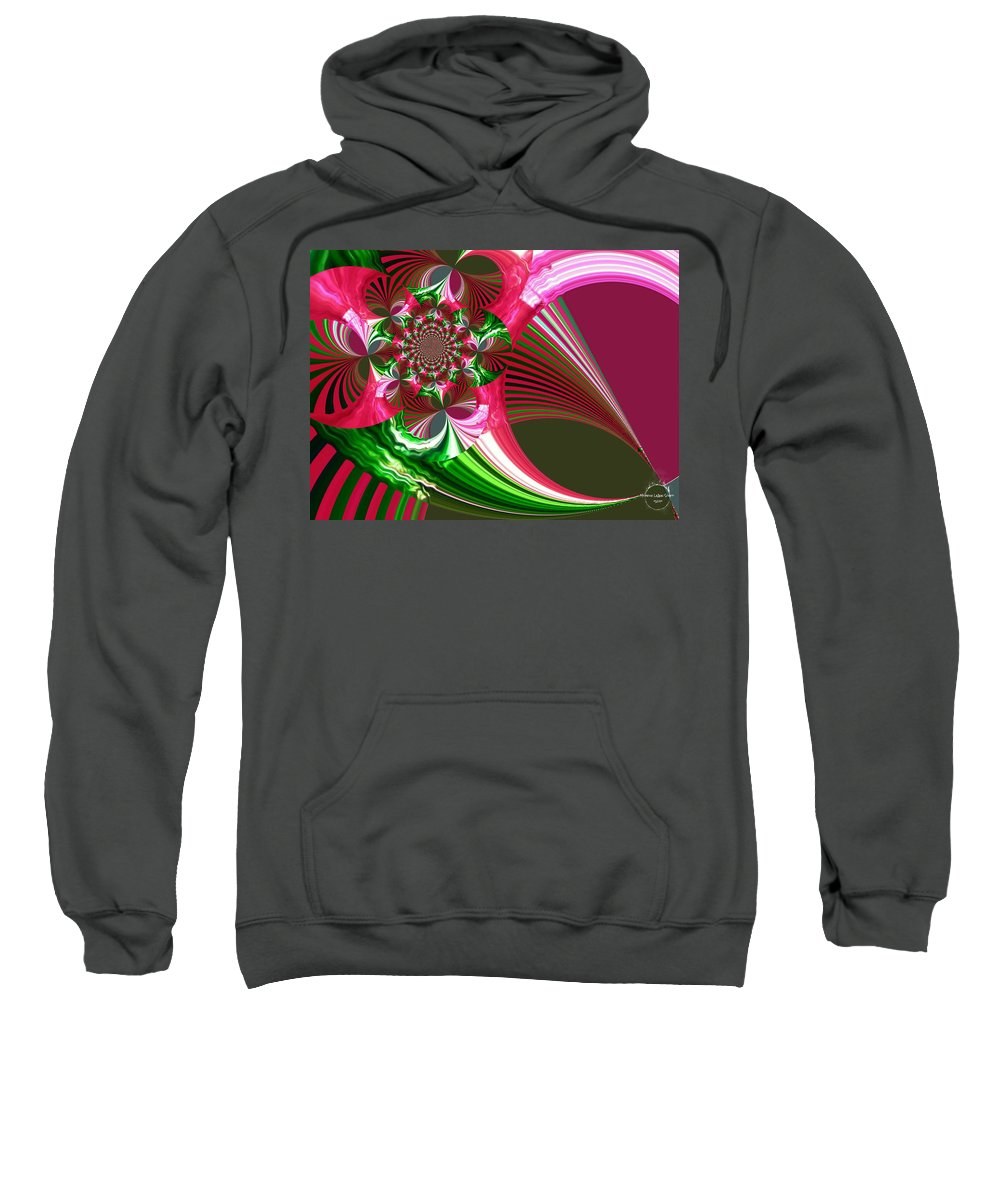 Raspberry Sweatshirt featuring the digital art Raspberry Garden by Absinthe Art By Michelle LeAnn Scott