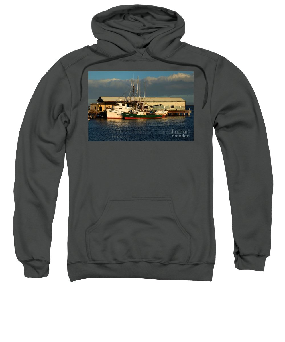 Port Angles Sweatshirt featuring the photograph Ready For The Day by Adam Jewell