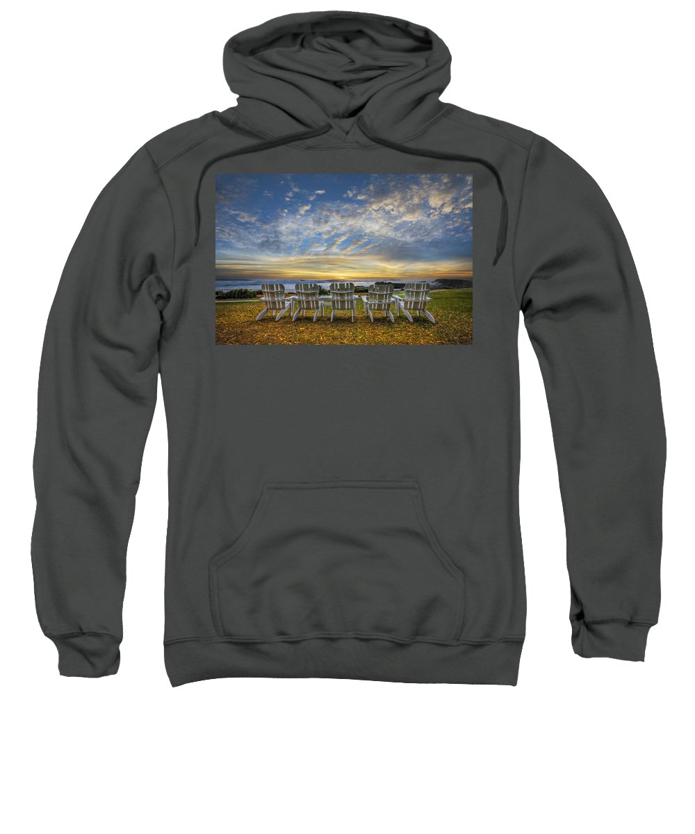 Clouds Sweatshirt featuring the photograph Ready For The Morning by Debra and Dave Vanderlaan