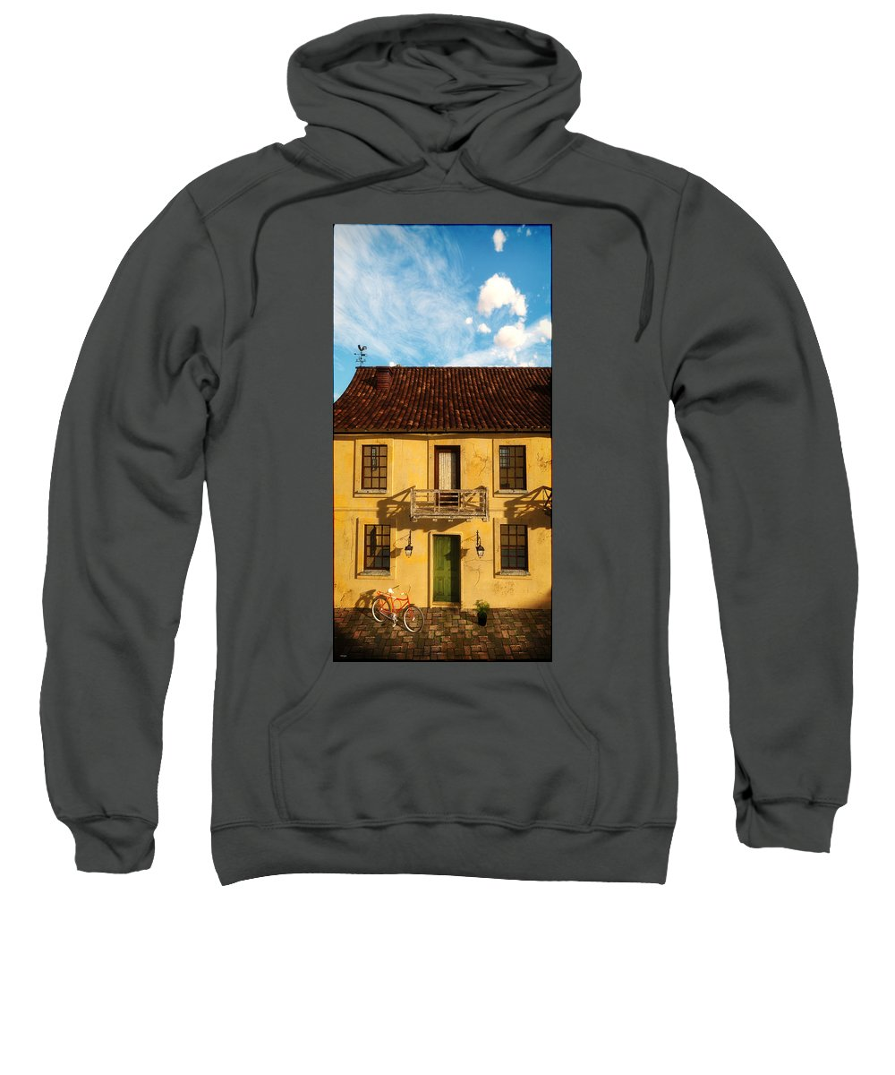 Urban Sweatshirt featuring the digital art Rear View Window... by Tim Fillingim