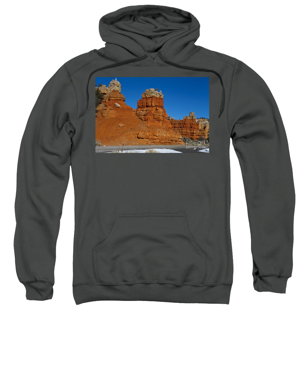 Dixie National Forest Sweatshirt featuring the photograph Red Canyon Dixie National Forest by Jason O Watson