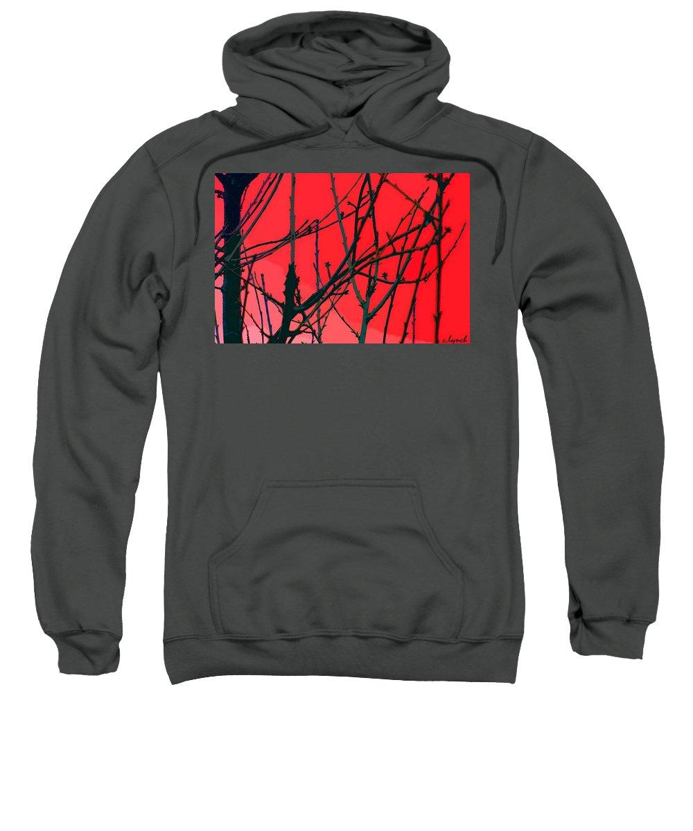 Red Sweatshirt featuring the digital art Red by Carol Lynch