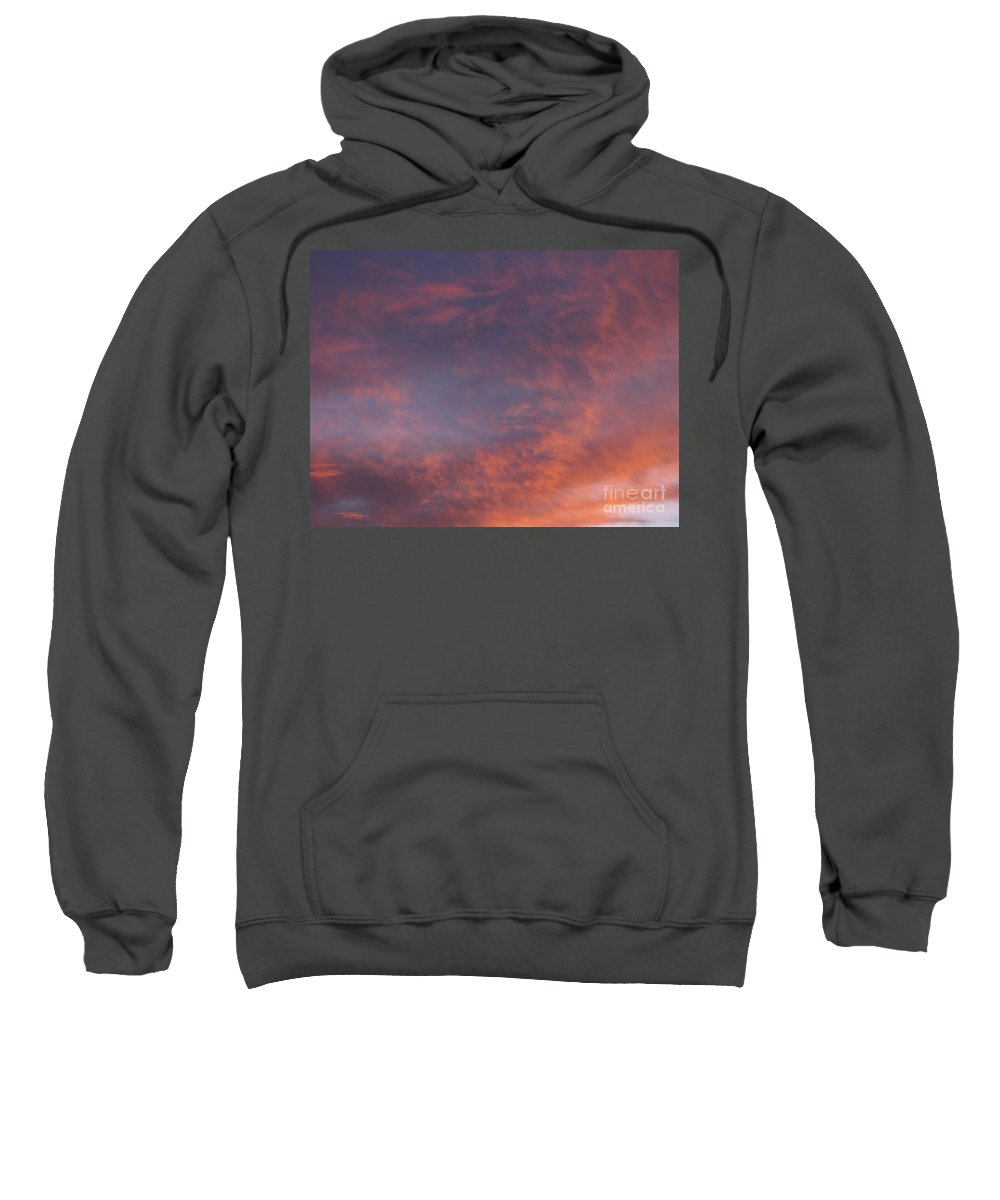 Sunset Sweatshirt featuring the photograph Red Clouds At Sunset by Jussta Jussta