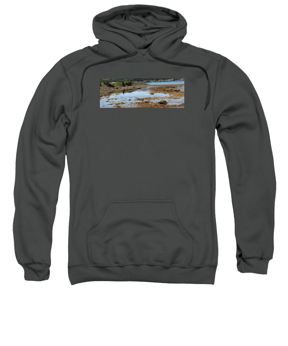 Red Flat Sweatshirt featuring the photograph Red Flat At Low Tide by Barbara Griffin