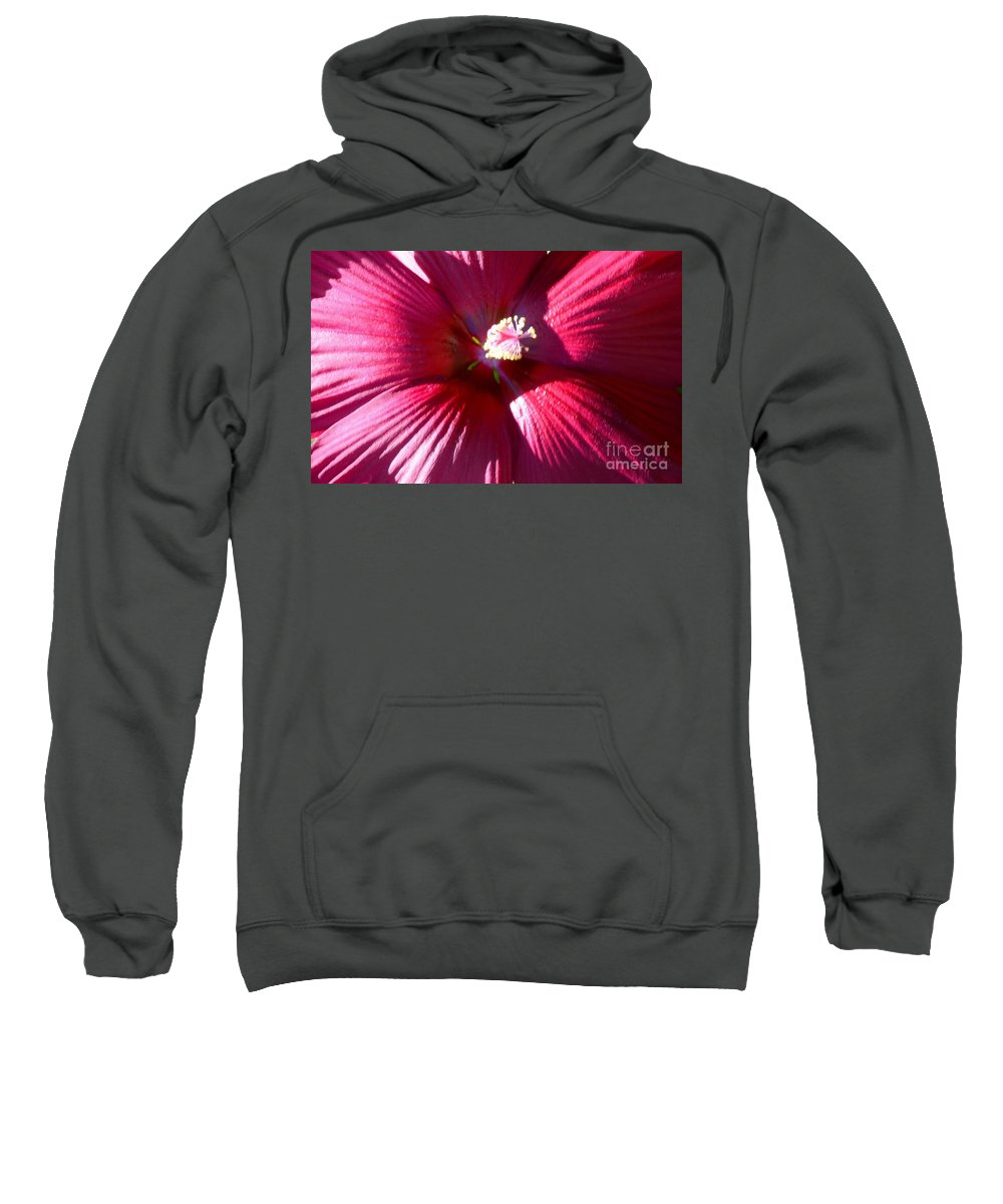 Red Sweatshirt featuring the photograph Red Red by Kathleen Struckle