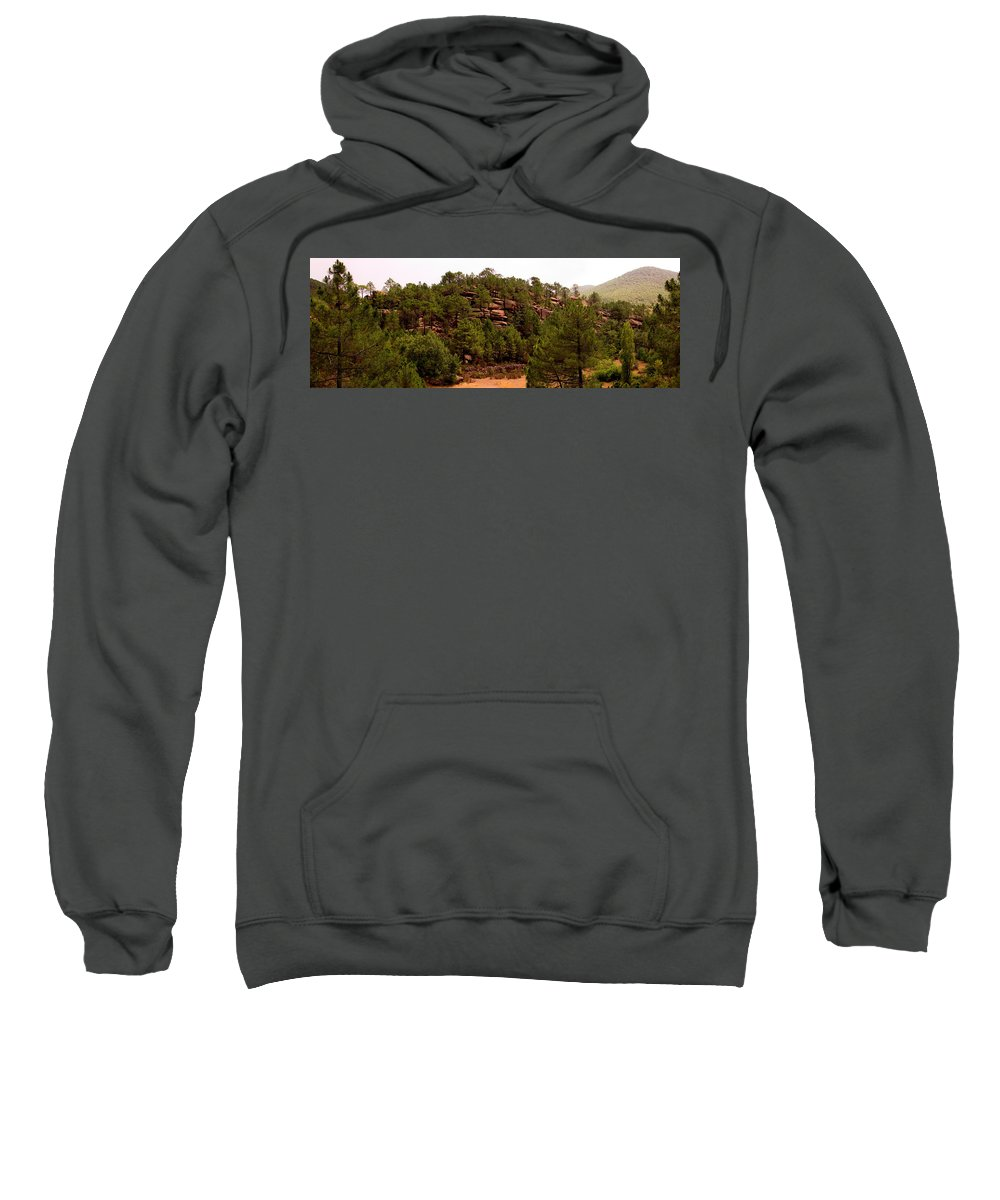 Red Rock Sweatshirt featuring the photograph Red Rock Green Forest No3 by Weston Westmoreland