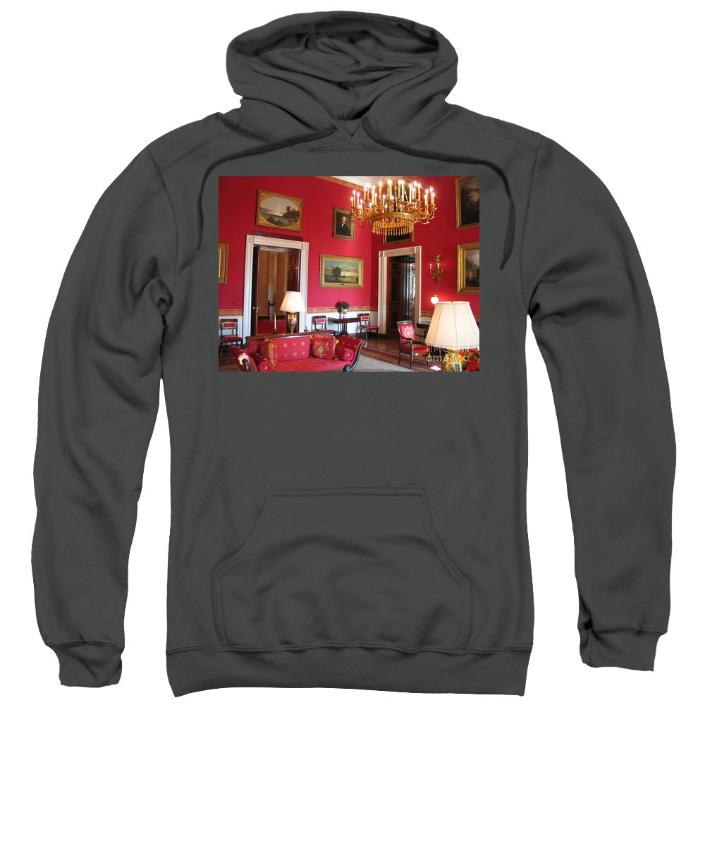 White House Sweatshirt featuring the photograph Red Room White House by Jason O Watson