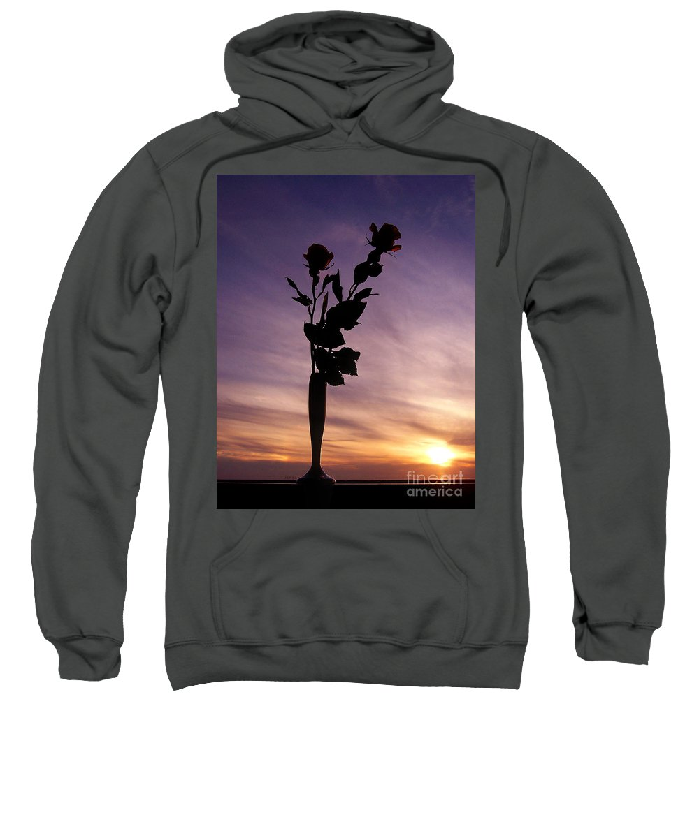Rose Sweatshirt featuring the photograph Red Roses At Sunset by Phil Perkins