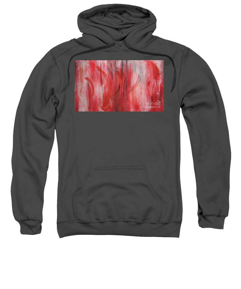 Abstract Sweatshirt featuring the painting Red Sea by Silvana Abel