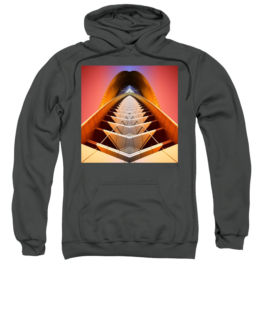 Abstract Sweatshirt featuring the photograph Red Shift by Wayne Sherriff