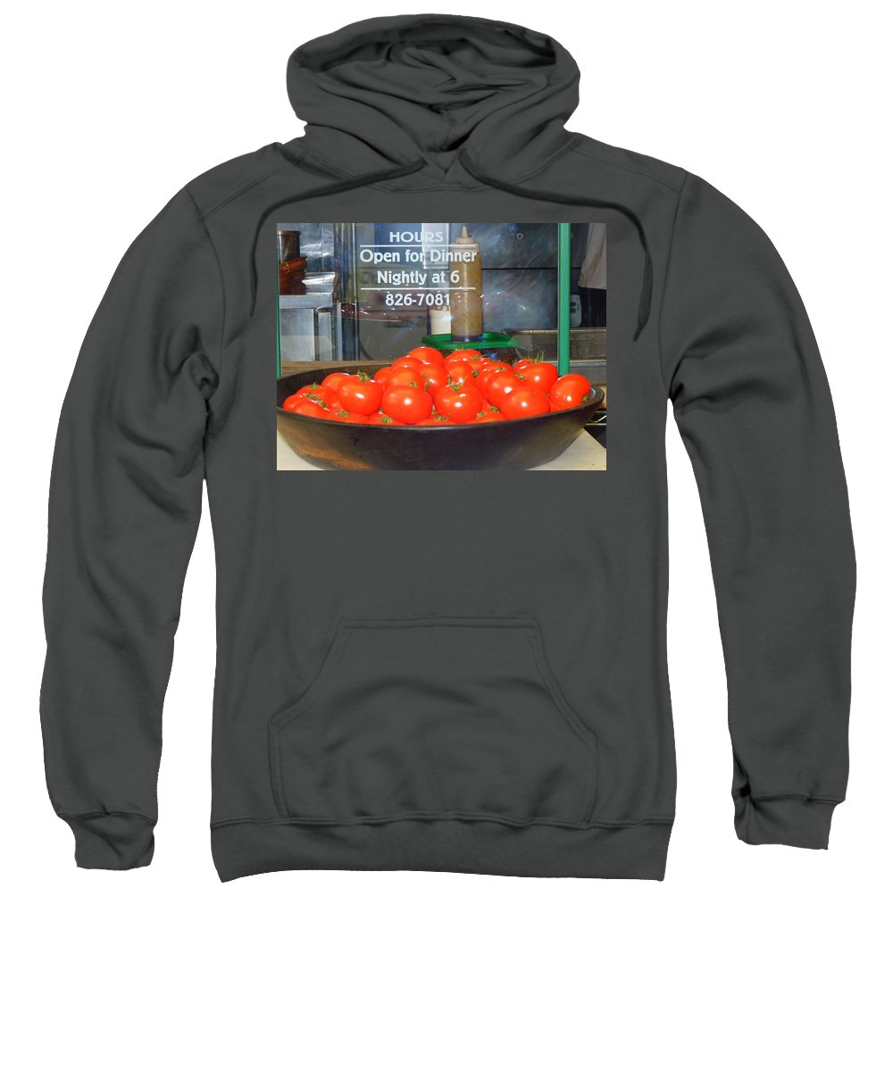 Signs Sweatshirt featuring the photograph Red Tomatoes by Kris Hiemstra