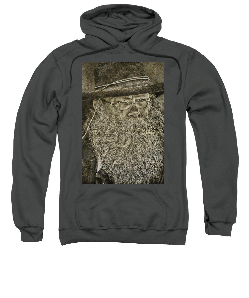 Reenactor Sweatshirt featuring the photograph Reenactor by Priscilla Burgers