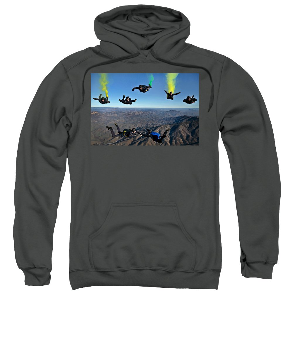 U.s. Navy Sweatshirt featuring the photograph Reenlistment In The Clouds by Mountain Dreams