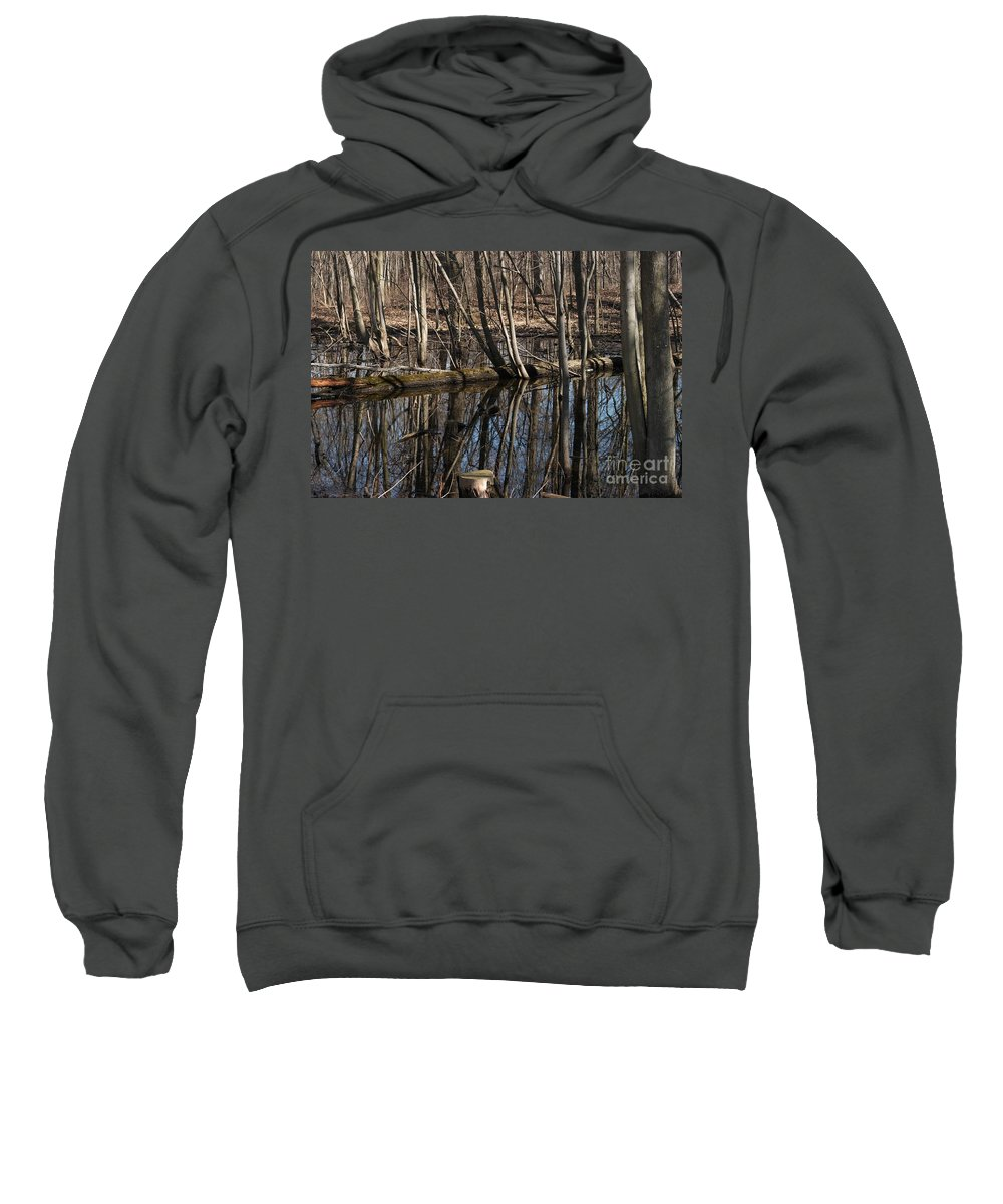 Creek Sweatshirt featuring the photograph Reflecting Pool by Joseph Yarbrough