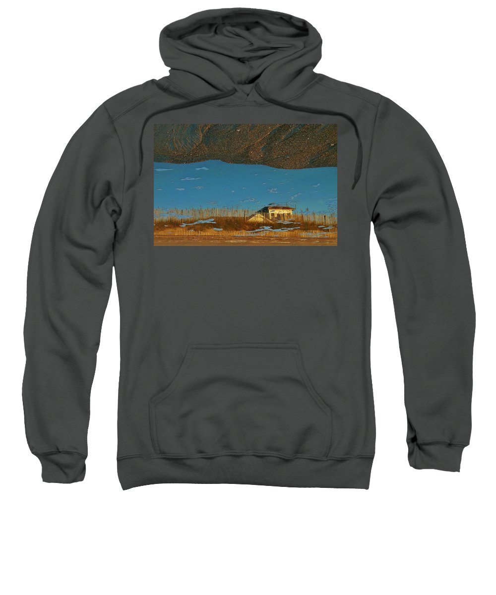 Mark Lemmon Cape Hatteras Nc The Outer Banks Photographer Subjects From Sunrise Sweatshirt featuring the photograph Reflection Flipped 14 10/31 by Mark Lemmon