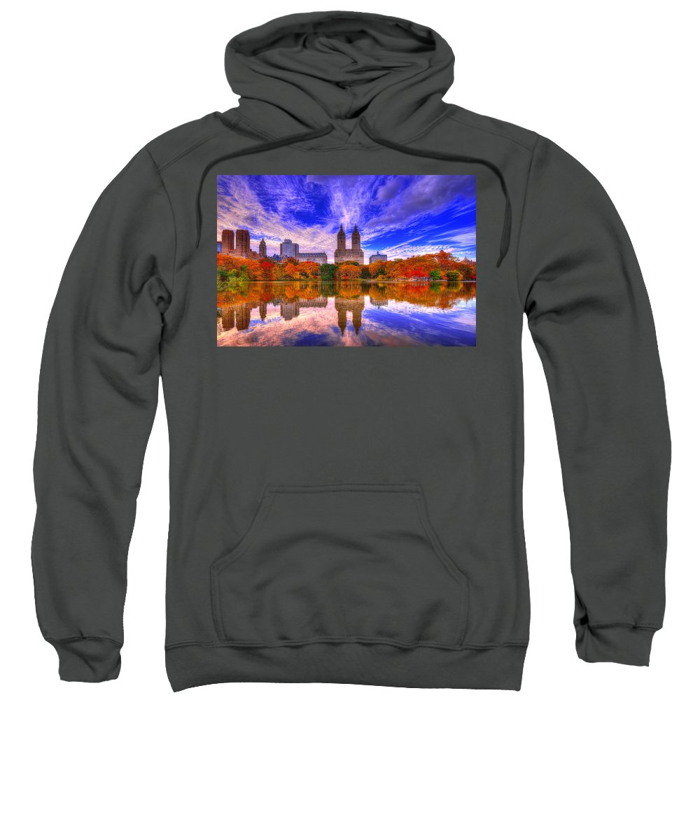 New York Sweatshirt featuring the photograph Reflection Of City by Midori Chan