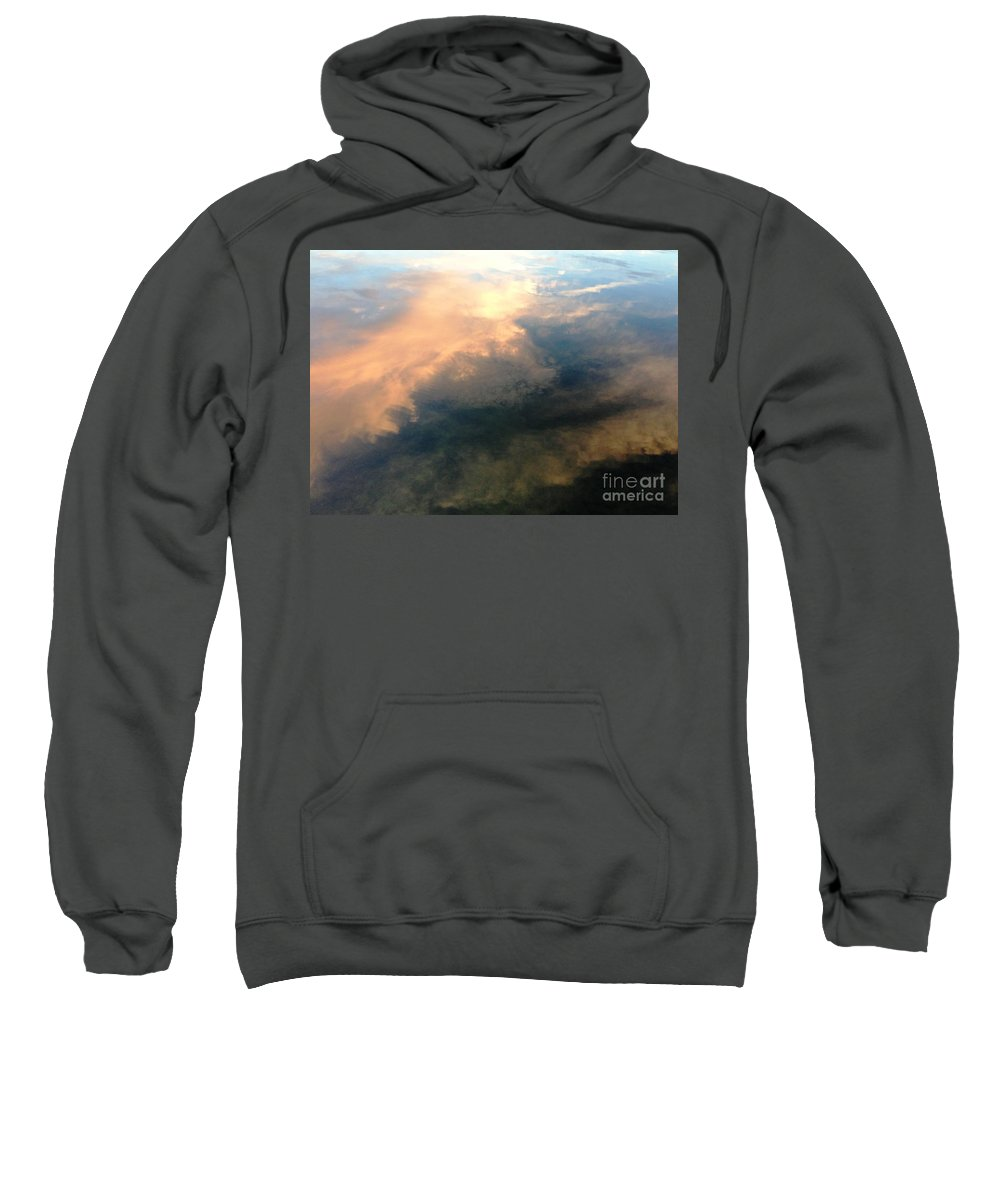 Cloud Sweatshirt featuring the photograph Reflection Of Clouds by Cristina Stefan