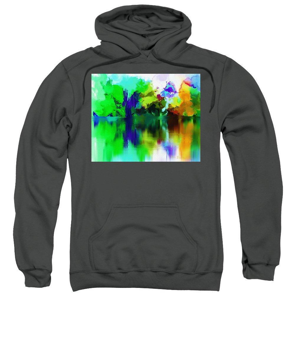Fine Art Sweatshirt featuring the digital art Reflections 012013 by David Lane