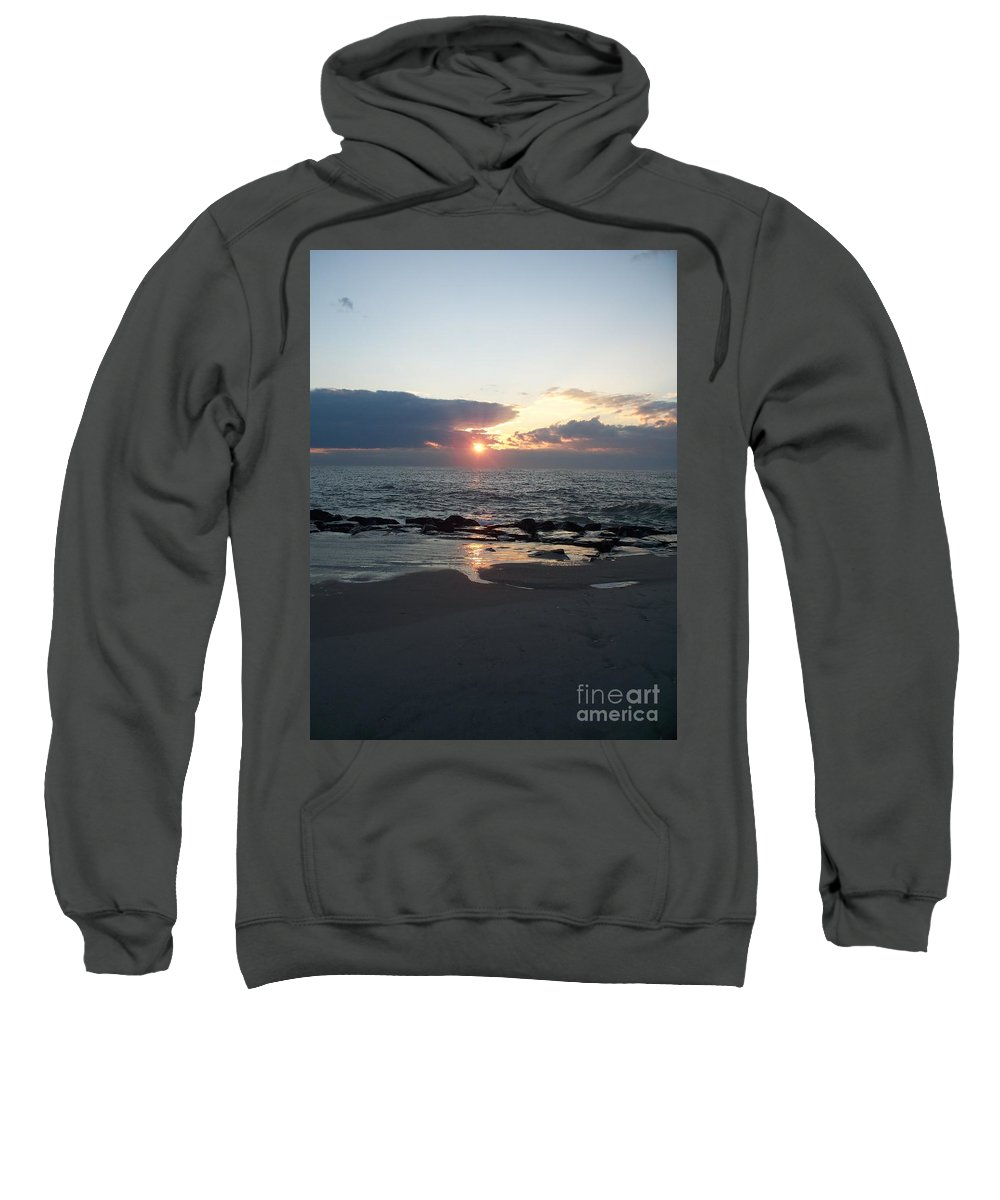Reflections Sweatshirt featuring the painting Reflections Cape May Point by Eric Schiabor