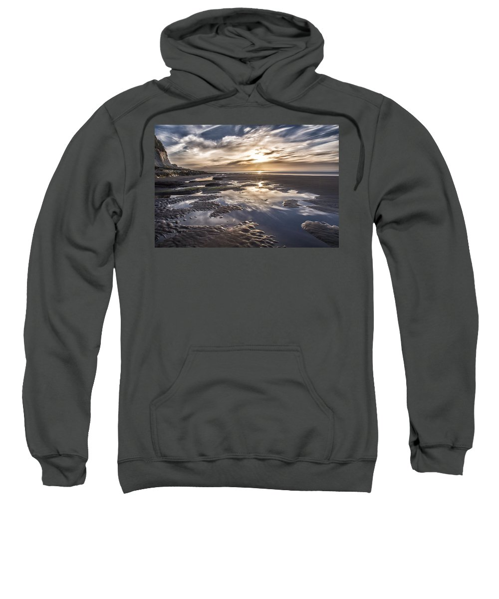 Ocean Sweatshirt featuring the photograph Reflections On A Beach by Russ Dixon
