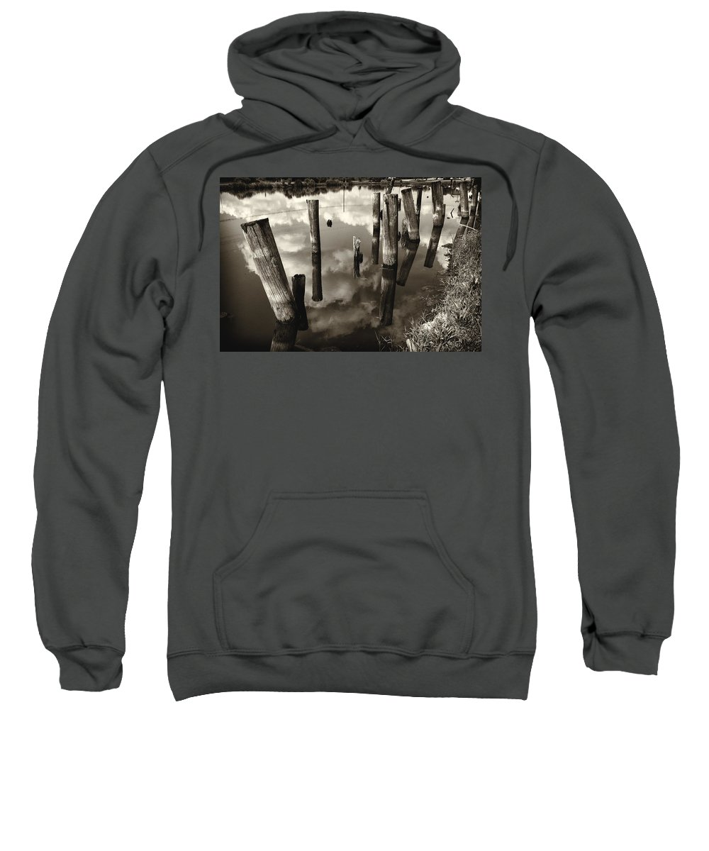 Bayou Villere Sweatshirt featuring the photograph Reflections On The Bayou Villere La Dsc05423 by Greg Kluempers