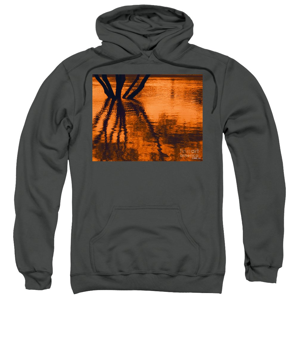 Water Sweatshirt featuring the photograph Reflectivity by Heather Kirk