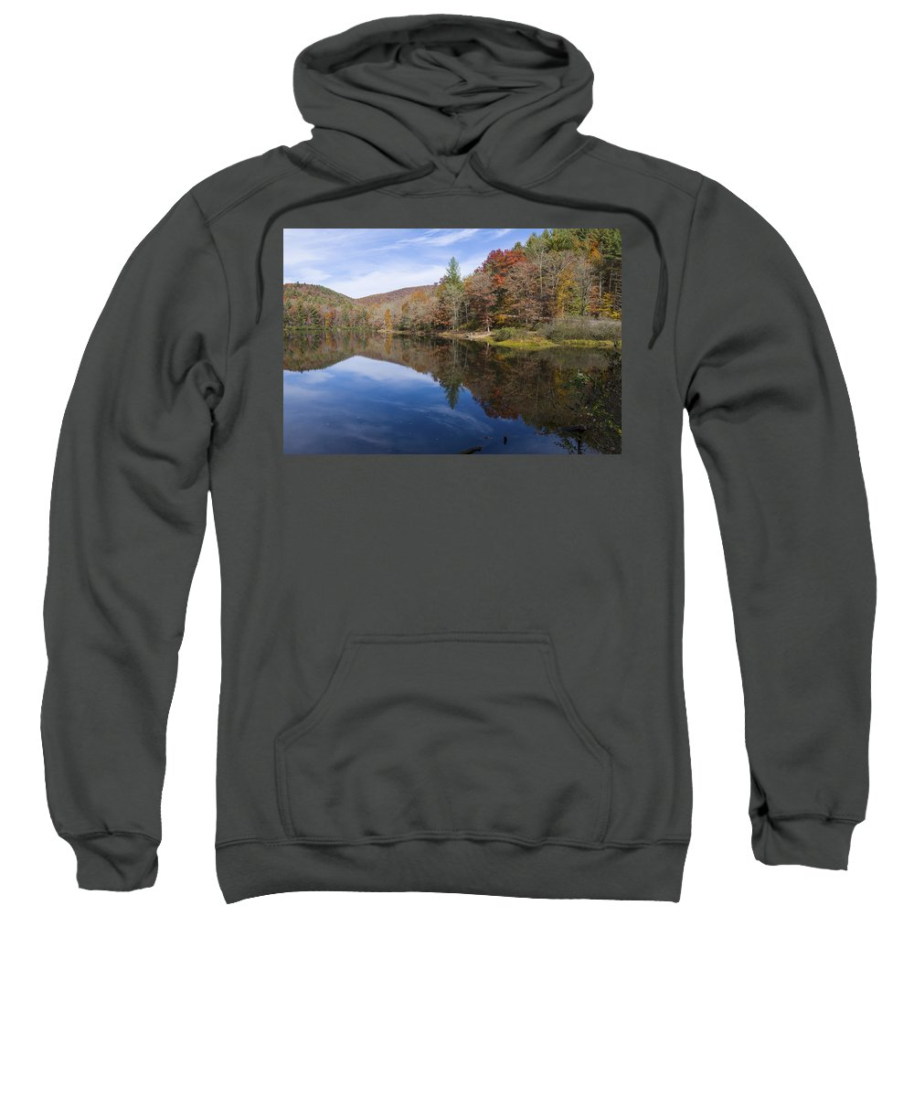 Autumn Sweatshirt featuring the photograph Reflection On Lake Winfield Scott 2 by Steve Samples