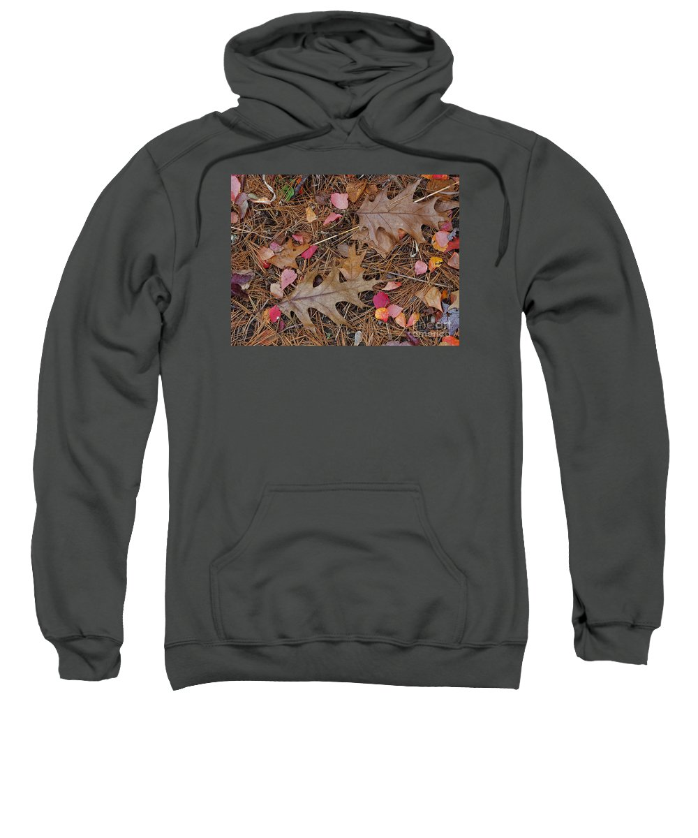 Leaf Sweatshirt featuring the photograph Remainders by Ann Horn