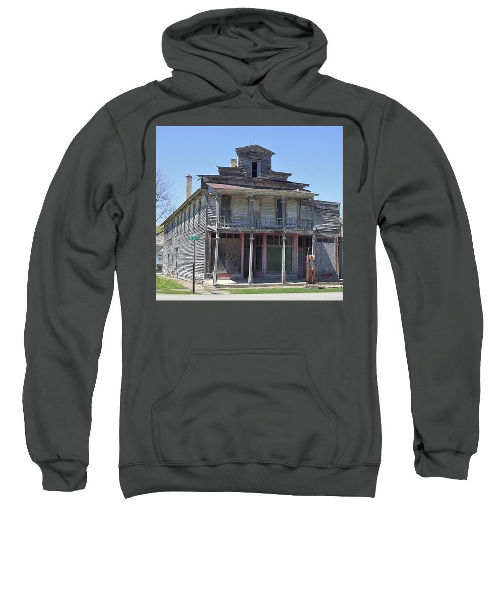 Crumbling Sweatshirt featuring the photograph Remains Of The Old Inn by Susan Wyman