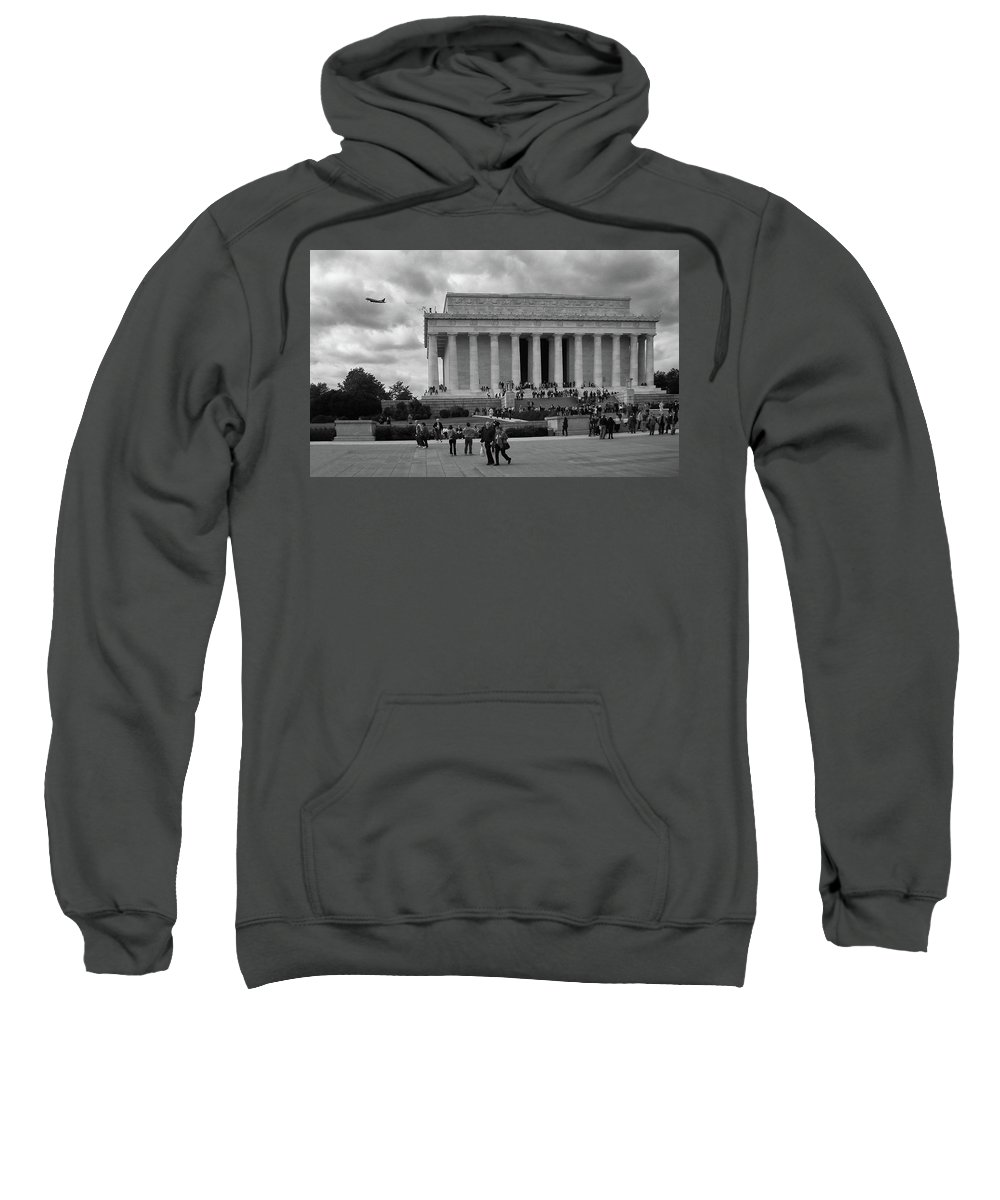 Monuments Sweatshirt featuring the photograph Remembering Abe by Guy Whiteley