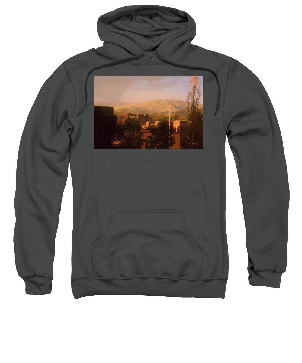 Santa Fe Sweatshirt featuring the painting Renaissance Santa Fe by RC DeWinter
