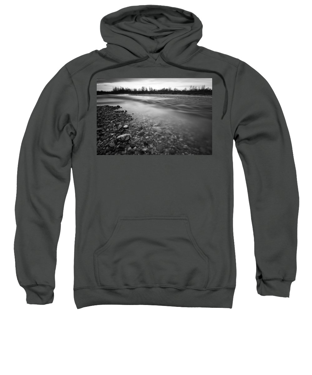 Landscapes Sweatshirt featuring the photograph Restless River by Davorin Mance