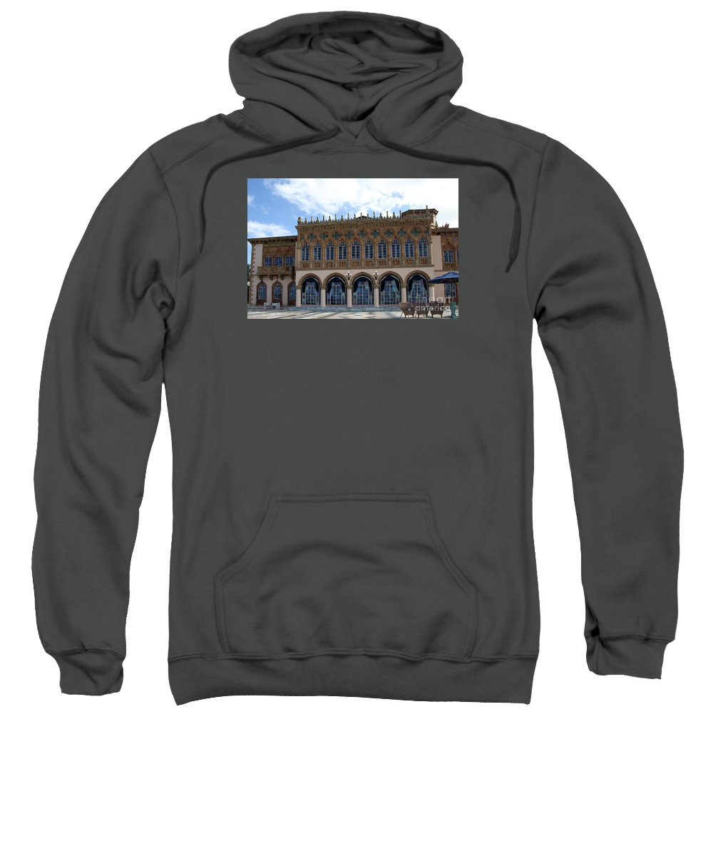 Ringling Sweatshirt featuring the photograph Ringling House Sarasota by Christiane Schulze Art And Photography