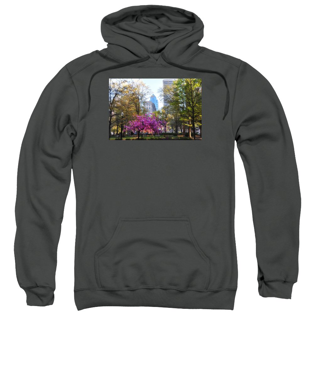 Rittenhouse Sweatshirt featuring the photograph Rittenhouse Square In Springtime by Bill Cannon