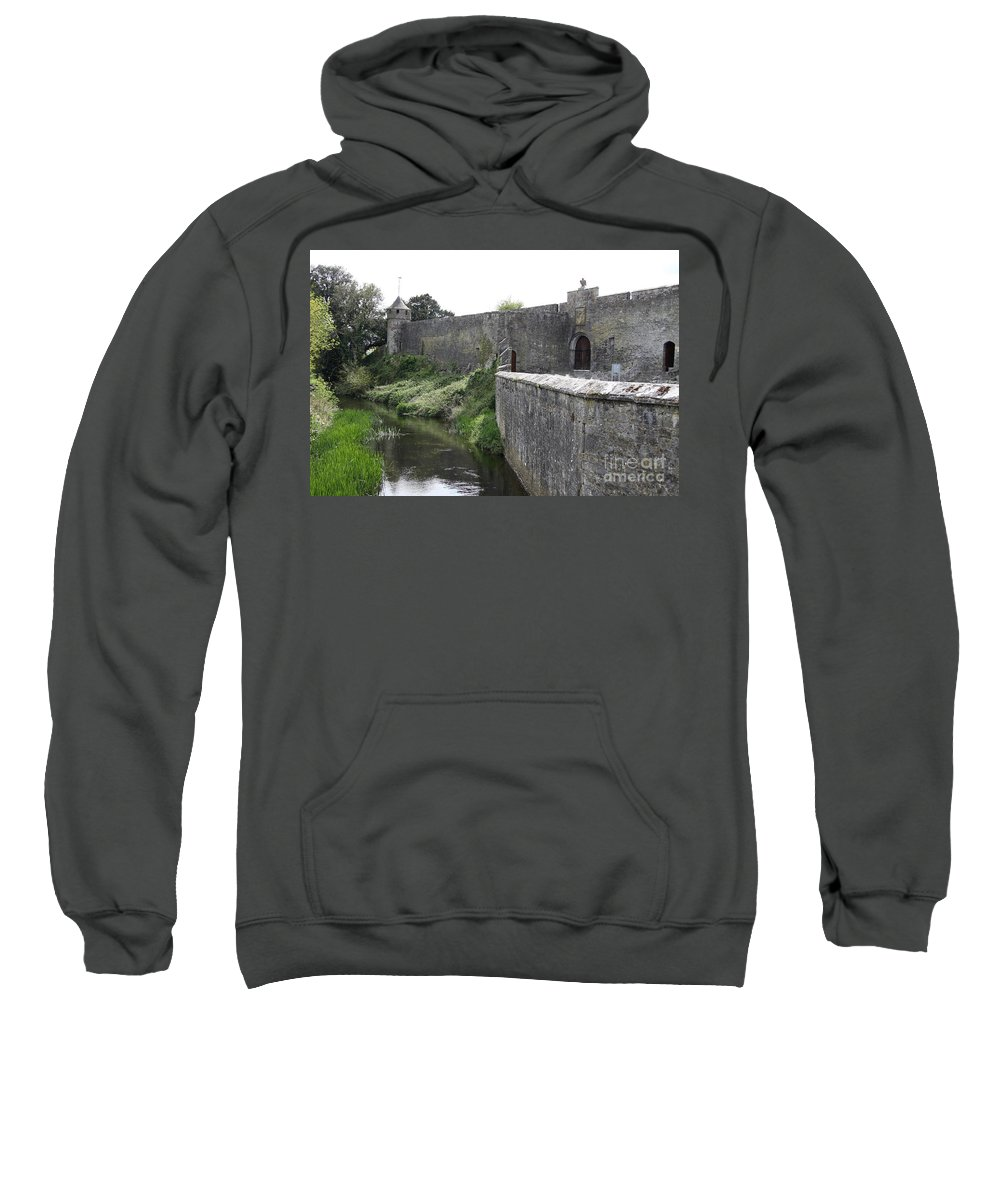 Cahir Castle Sweatshirt featuring the photograph River Suir And Cahir Castle by Christiane Schulze Art And Photography