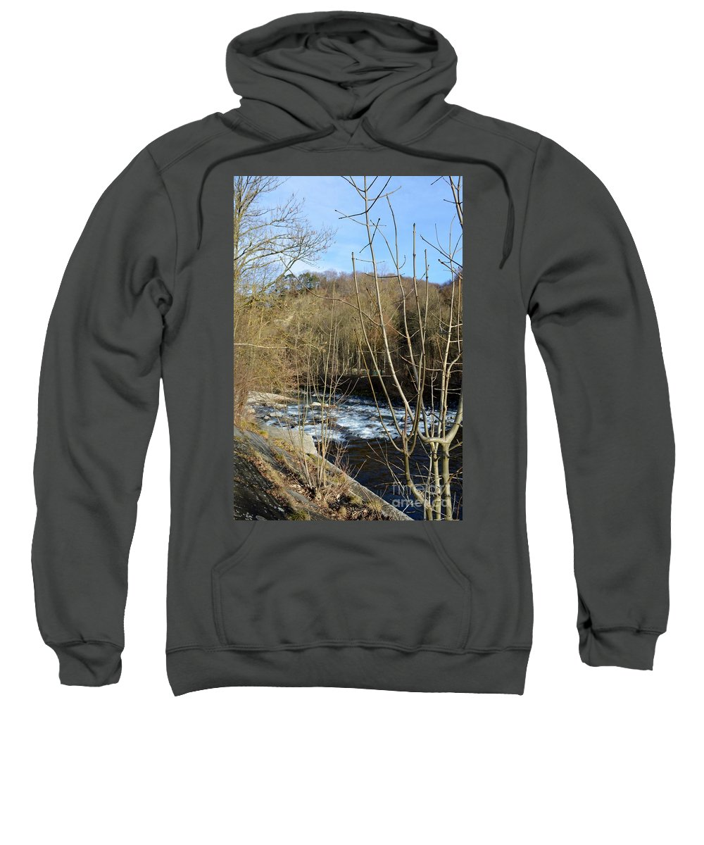 Landscape Sweatshirt featuring the photograph River Waterfall by Felicia Tica