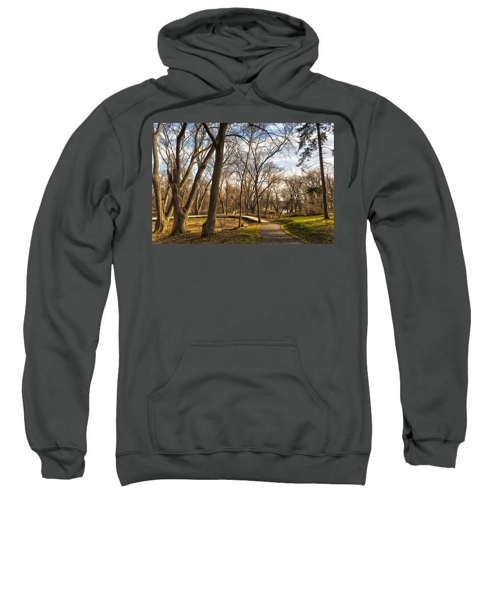 River Sweatshirt featuring the photograph Riverwalk by James Meyer