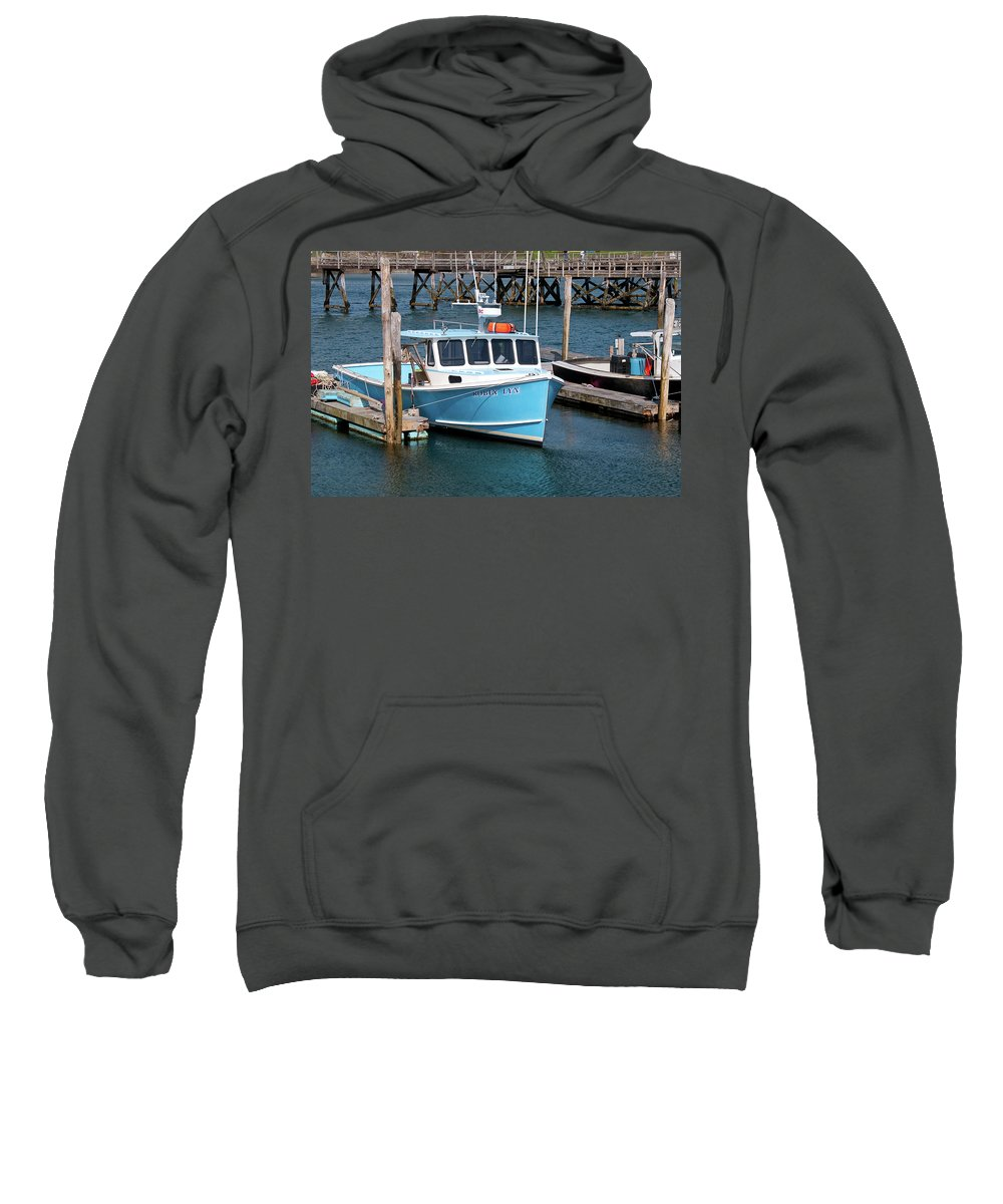 Boat Sweatshirt featuring the photograph Robin Lyn 0220 by Guy Whiteley