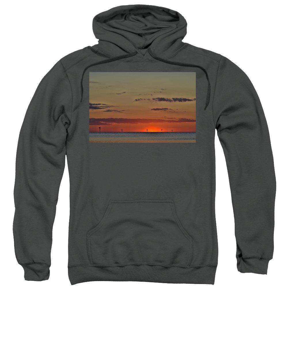 Sunset Sweatshirt featuring the photograph Rock Harbor Sunset 6 by Allen Beatty