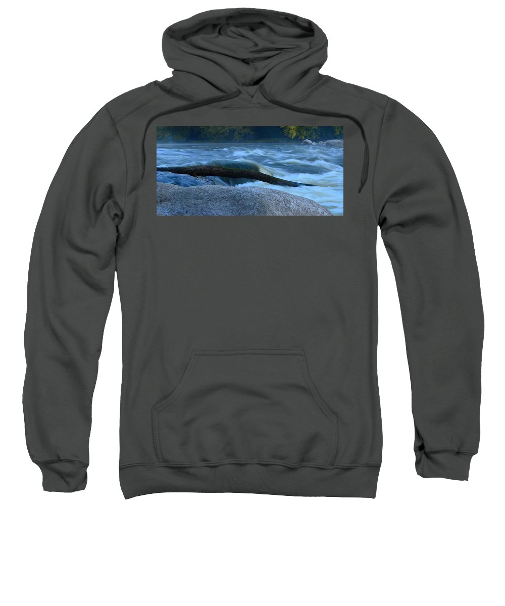 Rapids Sweatshirt featuring the photograph Rock Rapids Two by Bonfire Photography