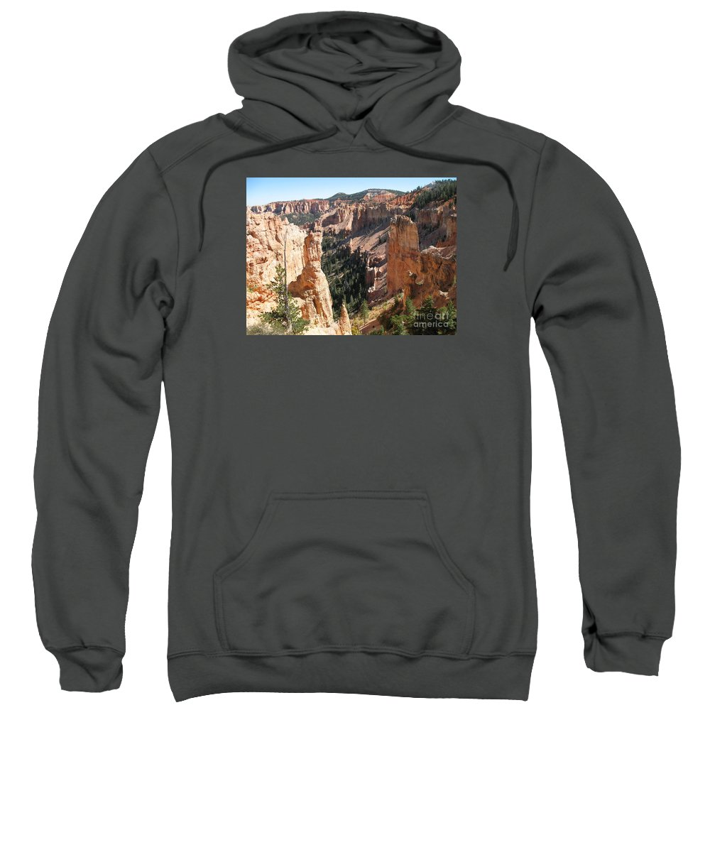 Canyon Sweatshirt featuring the photograph Rockformation At Bryce Canyon by Christiane Schulze Art And Photography