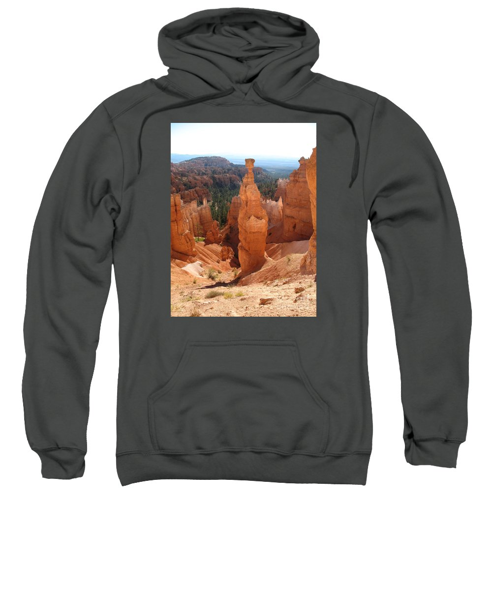 Rocks Sweatshirt featuring the photograph Rockformation Bryce Canyon by Christiane Schulze Art And Photography