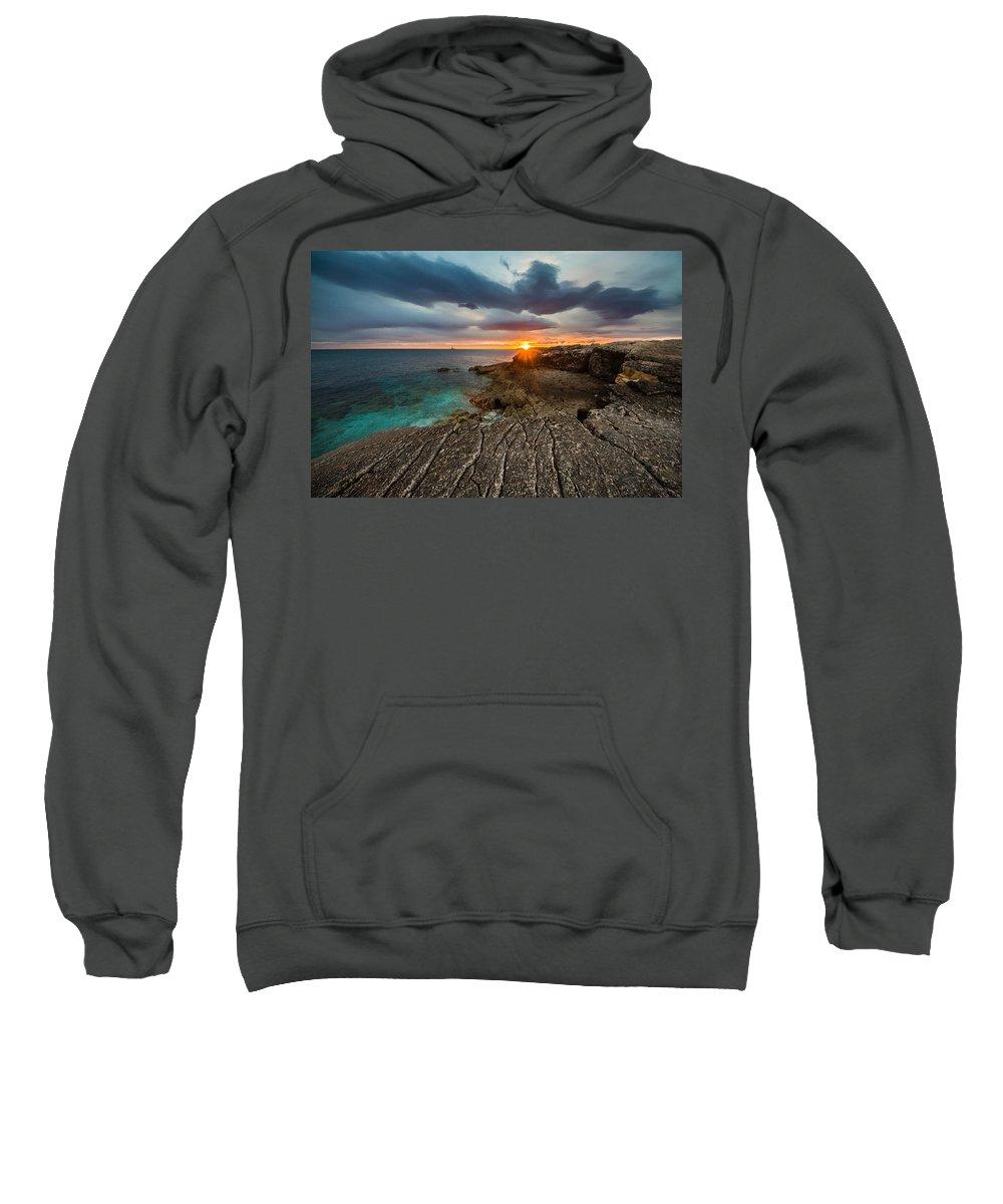 Landscape Sweatshirt featuring the photograph Rocky Beach II by Davorin Mance