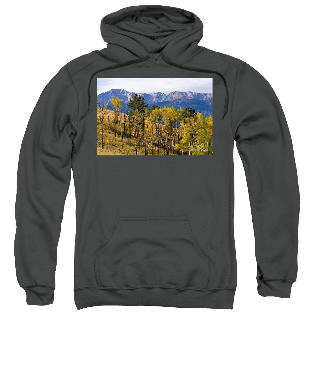 Autumn Sweatshirt featuring the photograph Rocky Mountain Autumn by Steve Krull