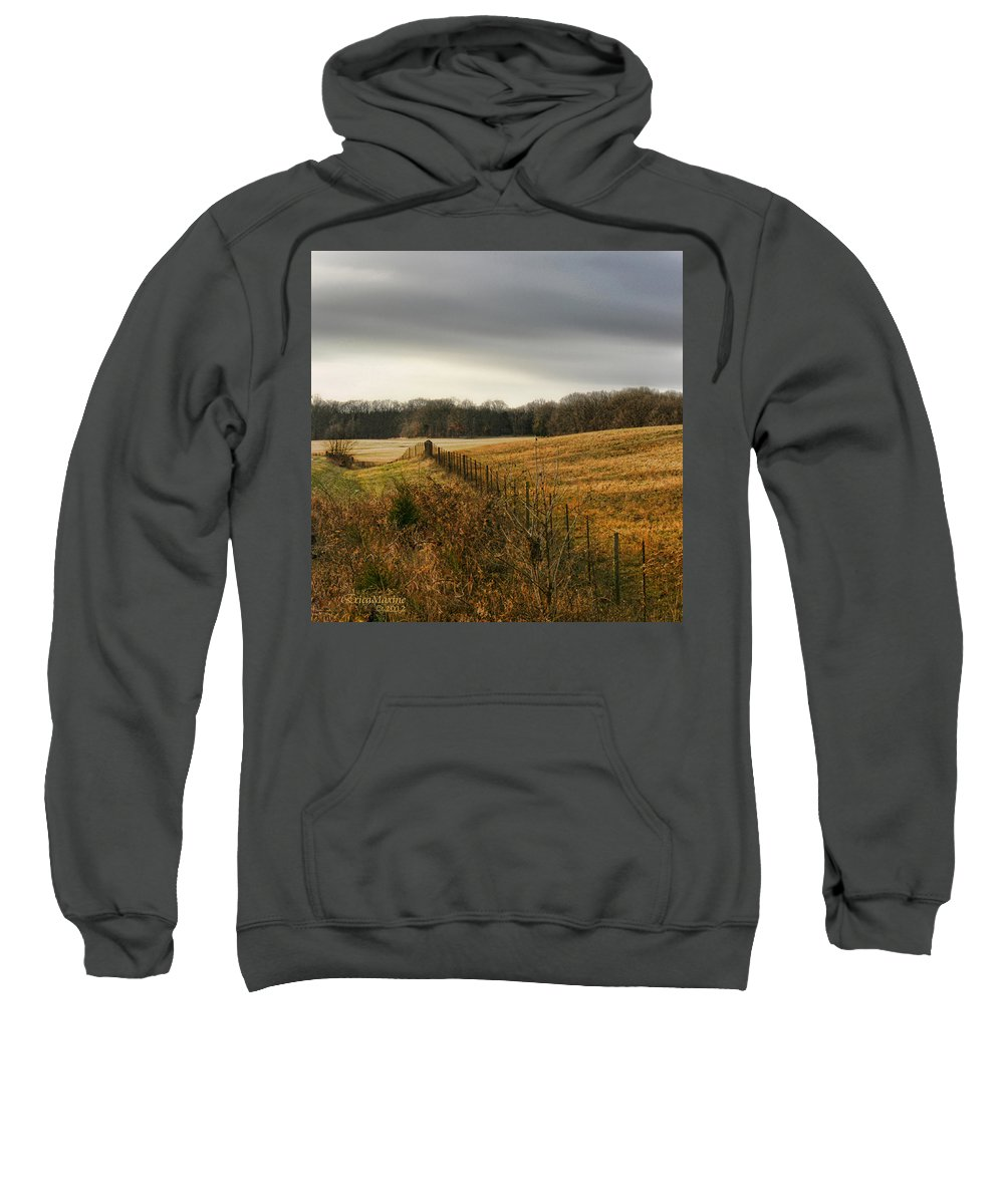 Tn Sweatshirt featuring the photograph Rolling Field by Ericamaxine Price